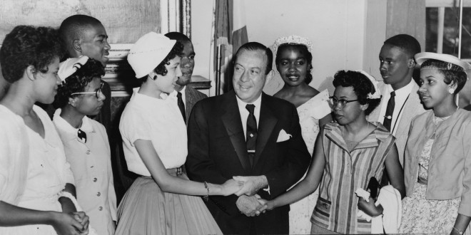 Today in Afro History ! Nine Afro American students were escorted by the U.S. Army into Central High School in Little Rock Arkansas. This Forced desegregation was ordered by Dwight D. Eisenhower after angry protesters had them removed on their first day of school in 1957 !