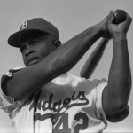 Today in Afro History ! Jackie Robinson breaks baseball's color barrier in 1945 !  Muhammad Ali defeats George Foreman in 1974.