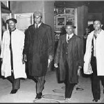 "Today in Afro History ! Four Afro American students ""The Greensboro Four"" , stage the first sit-in protest at a lunch counter in Greensboro N.C. in 1960 !"