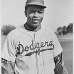 Today in Afro History ! Jackie Robinson bunts for his first major league hit in 1947 !