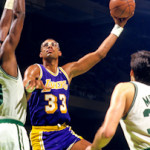 Today in Afro History ! Kareem Abdul-Jabbar breaks Wilt Chamberlains career scoring Record of 31,419 points in 1984 !