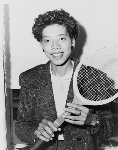 Today in Afro History ! Althea Gibson becomes the first Afro American woman to win a major tennis title by winning the French Open in 1956 !