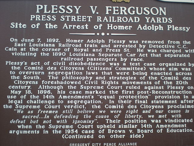 Today in Afro History ! The U.S. Supreme Court upholds the separate but equal decision in  Plessy vs. Ferguson in 1896.
